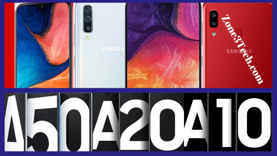 Samsung Galaxy A50, A20, and A10e Specifications & Price.