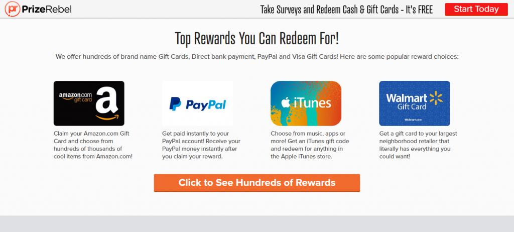 Paid Surveys For Money PrizeRebel