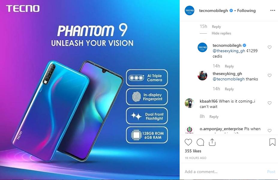 full specs of the Tecno Phantom 9
