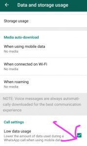 How to lower the amount of data usage during WhatsApp calls