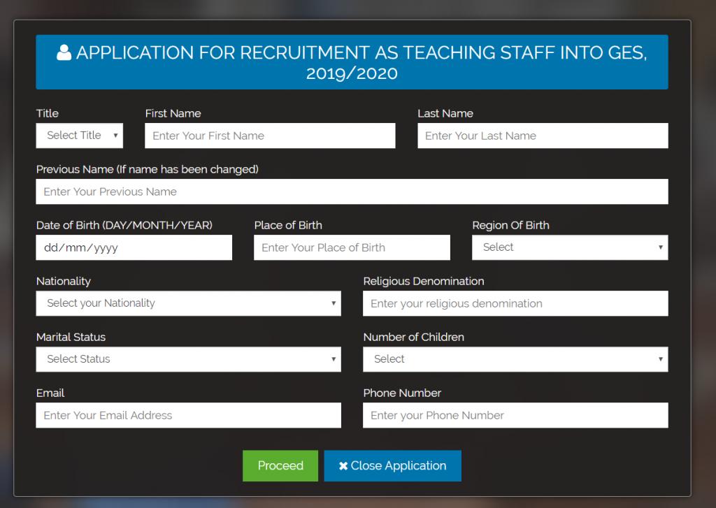 GES Recruitment  Portal
